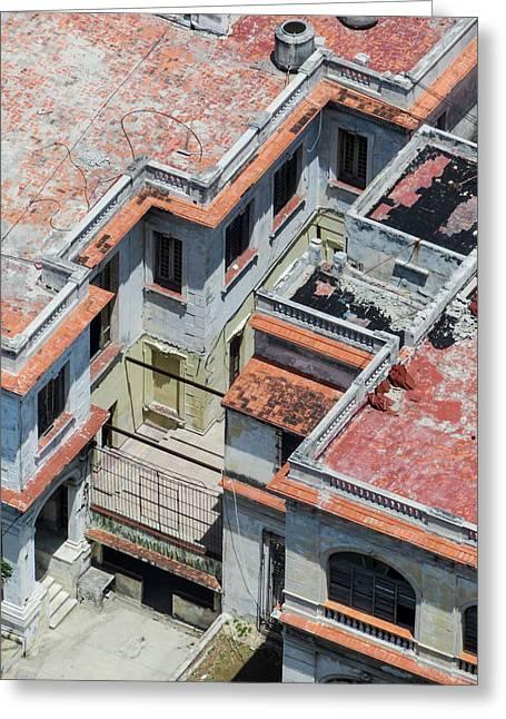 Aerial View Greeting Cards - Havana Rooftop Greeting Card by Rob Huntley