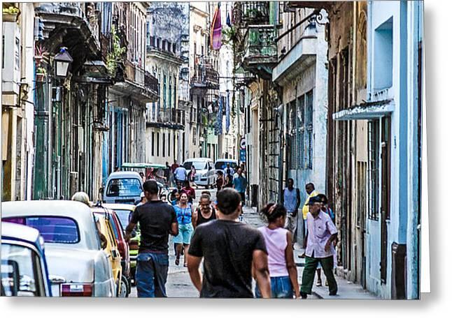 Havana Street II Greeting Card by Jim Nelson