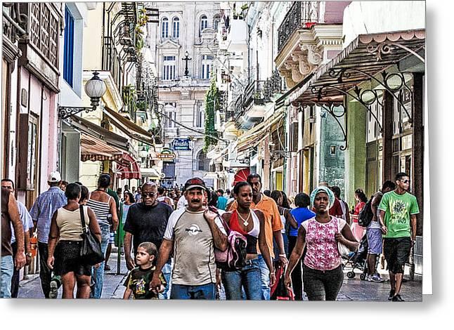 Havana Street V Greeting Card by Jim Nelson