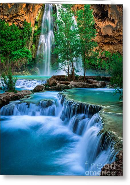 Grand Canyon State Greeting Cards - Havasu Paradise Greeting Card by Inge Johnsson