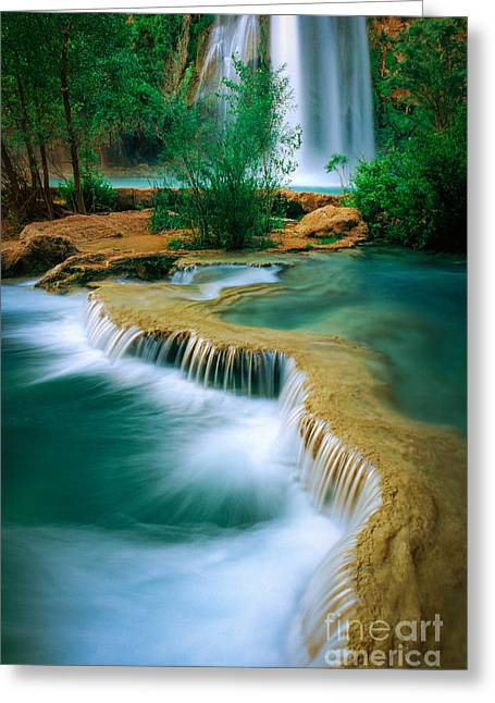 Grand Canyon State Greeting Cards - Havasu Travertine Greeting Card by Inge Johnsson