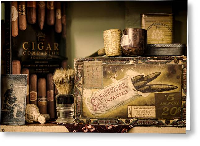 Have a Cigar Greeting Card by Heather Applegate
