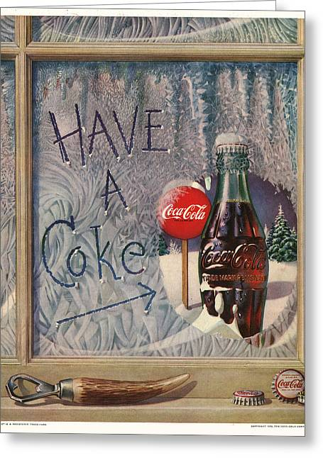 Coca Cola.coke-a-cola Greeting Cards - Have a Coke Greeting Card by Nomad Art And  Design