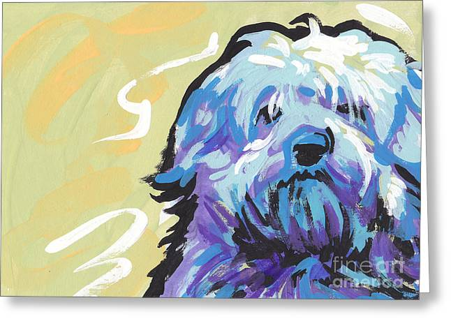 Dog Portraits Greeting Cards - Have a Neese Day Greeting Card by Lea