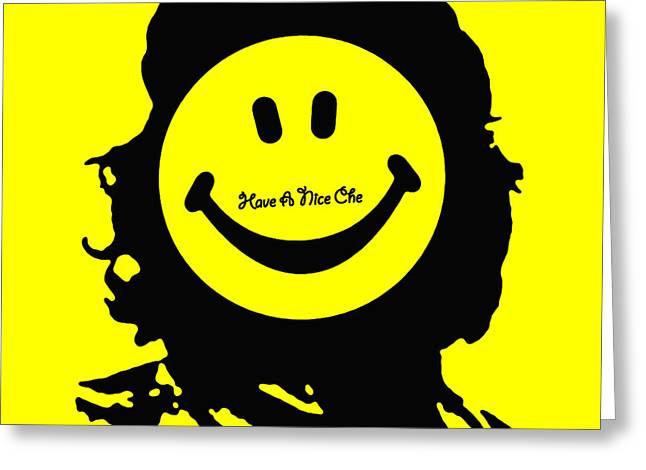 Counterculture Mixed Media Greeting Cards - Have A Nice Che Guevara Greeting Card by Tony Rubino