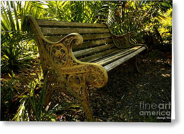 Work Area Greeting Cards - Have a Seat Greeting Card by Cheryl Young