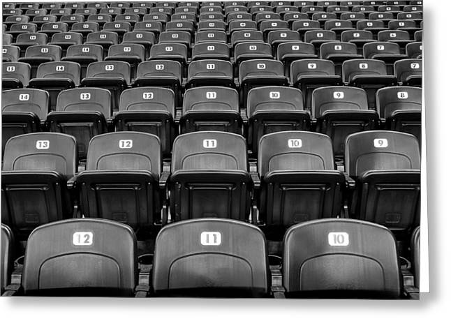 Nba Championship Greeting Cards - Have a Seat Greeting Card by Frozen in Time Fine Art Photography