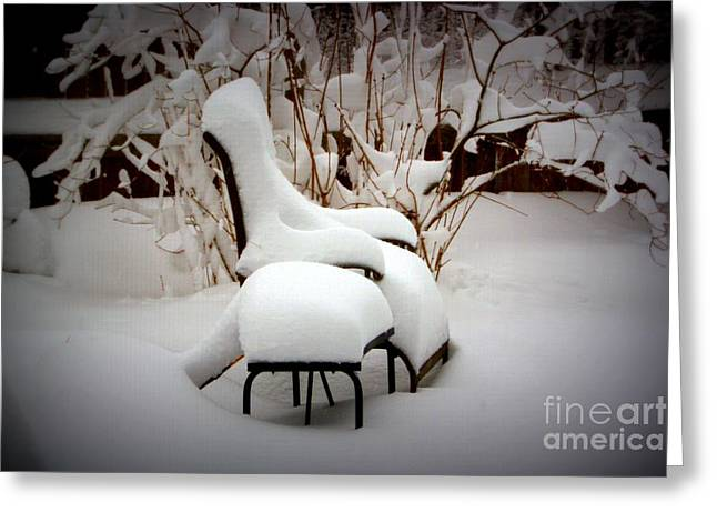 Lawn Chair Greeting Cards - Have a Seat Greeting Card by Patti Whitten