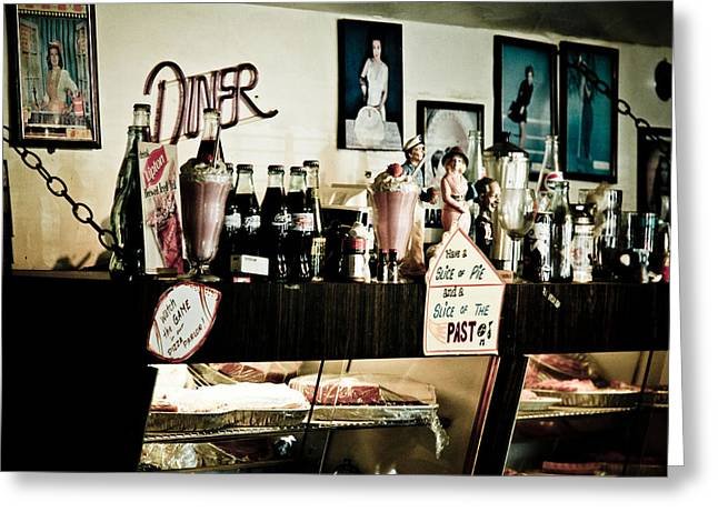Peggy Sues Diner Greeting Cards - Have a slice of pie Greeting Card by Ellen and Udo Klinkel