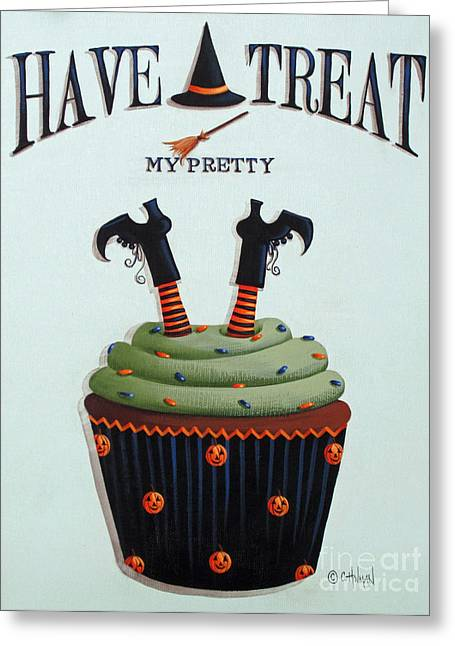 Food Art Paintings Greeting Cards - Have A Treat My Pretty Greeting Card by Catherine Holman