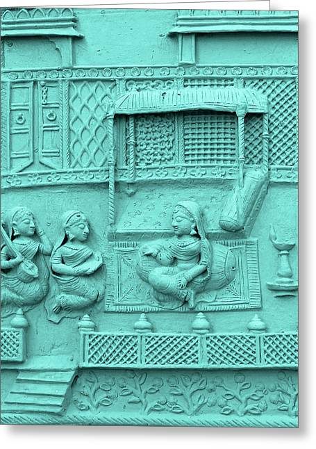 Royal Art Greeting Cards - Haveli Bas Relief 1 Udaipur Rajasthan India Greeting Card by Sue Jacobi