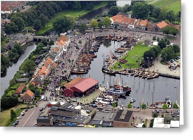 Haven, Elburg Greeting Card by Bram van de Biezen