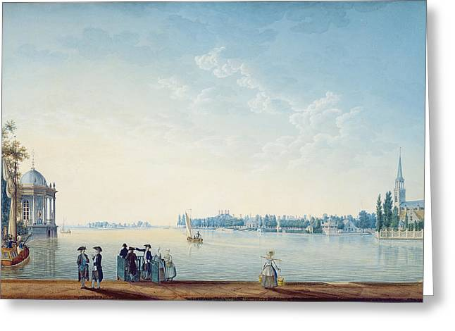 Day Out Greeting Cards - Havenrak To Broek In Waterland, Or The City Of Zwolle On The Banks Of The Ijssel In Holland, 1814 Greeting Card by Anton Ignaz Melling