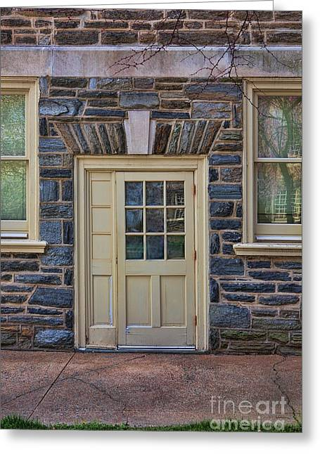 Haverford College Photographs Greeting Cards - Haverford College Door Greeting Card by Kay Pickens
