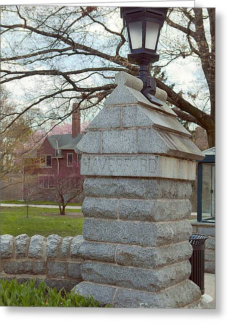 Haverford College Photographs Greeting Cards - Haverford College Entrance Greeting Card by Kay Pickens