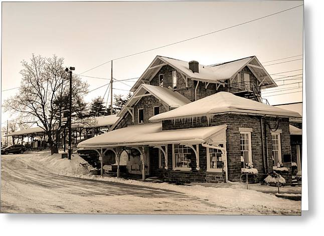 Haverford Greeting Cards - Haverford Station Greeting Card by Bill Cannon