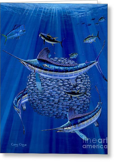 Pez Vela Paintings Greeting Cards - Having a ball Off0078 Greeting Card by Carey Chen