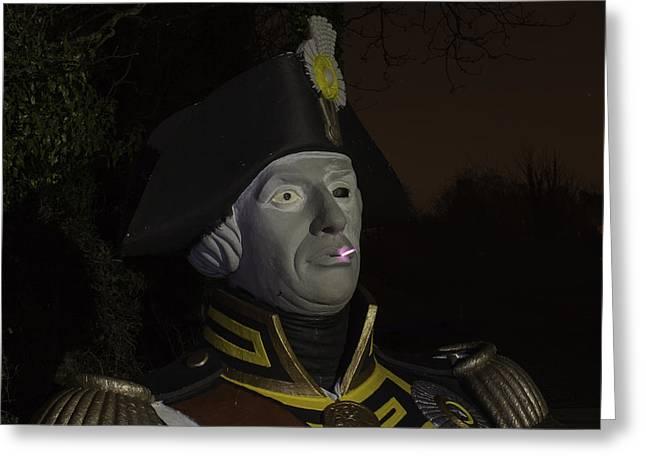 Lord Admiral Nelson Greeting Cards - Having a Ciggie break Greeting Card by Nigel Jones