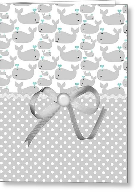 Ocean Mammals Greeting Cards - Having A Whale Of A Time Greeting Card by Debra  Miller