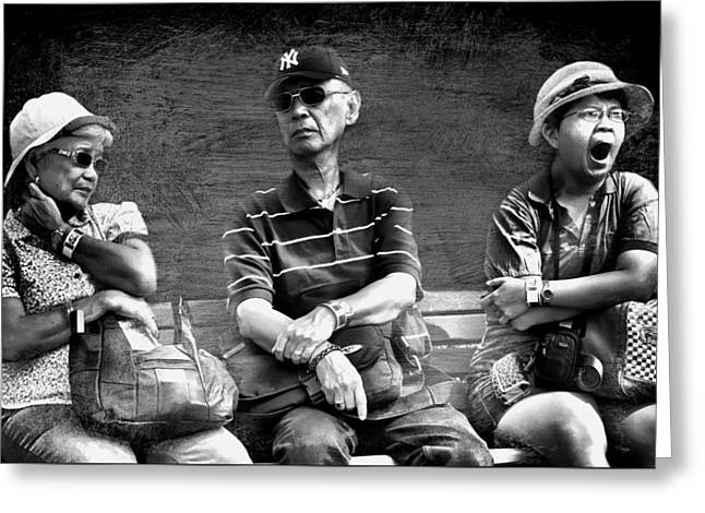 Candid Portraits Greeting Cards - Having Too Much Fun Greeting Card by Diana Angstadt