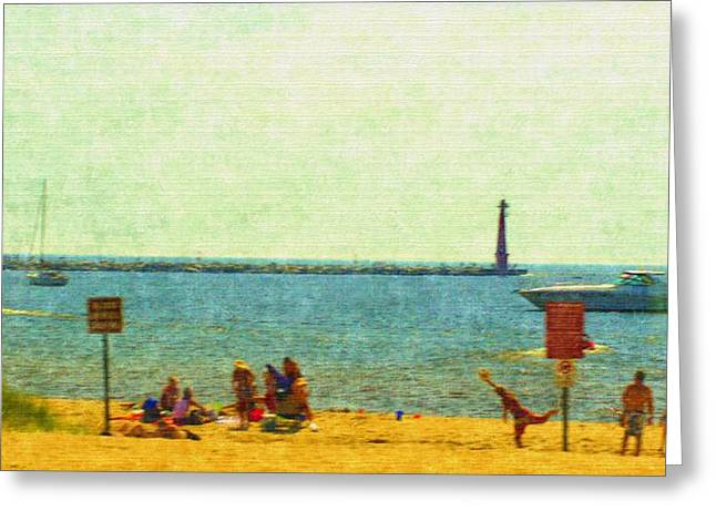 Entryway Drawings Greeting Cards - Having Fun In The Sun Greeting Card by Rosemarie E Seppala