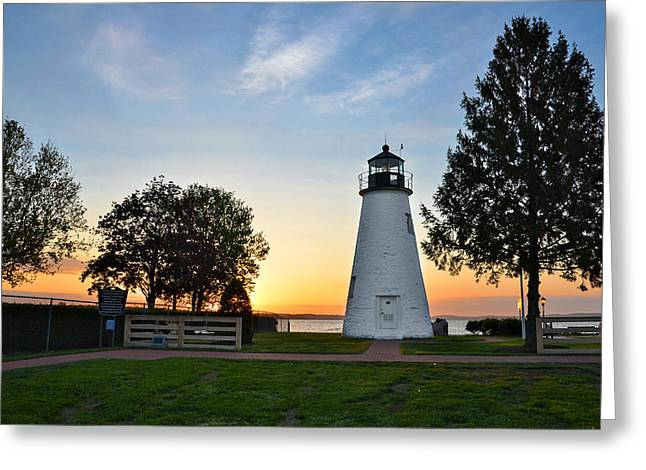 Concord Point Greeting Cards - Havre de Grace Sunrise Greeting Card by Sabrina Raymond