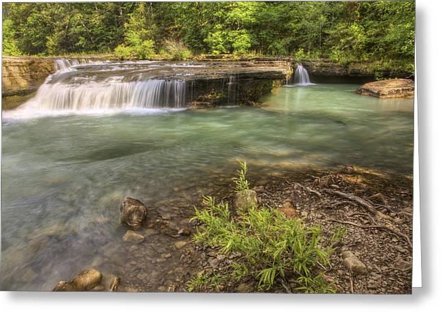 Haw Creek Falls Basin - Ozarks - Arkansas Greeting Card by Jason Politte