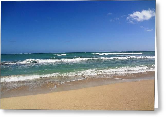 Ewa Greeting Cards - Hawaii Beach Greeting Card by Imelda Sausal-Villarmino