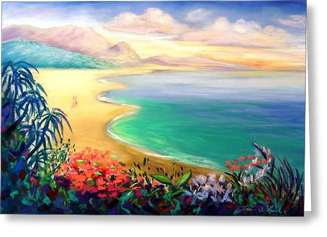 Tropical Beach Pastels Greeting Cards - Hawaii Honeymoon Greeting Card by Karin  Leonard