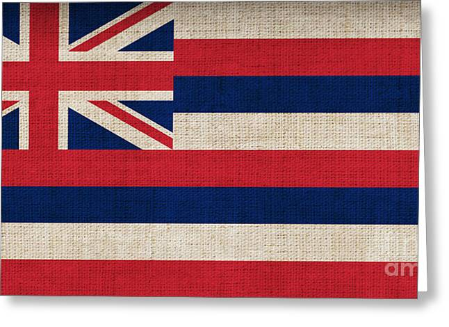 Hawaii State Flag  Greeting Card by Pixel Chimp