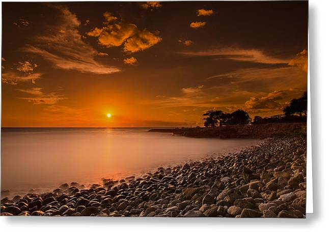 Koolina Greeting Cards - Hawaii sunset Greeting Card by Tin Lung Chao