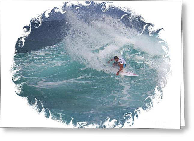 Surfing Photos Greeting Cards - Hawaii Surfing Action Greeting Card by Scott Cameron