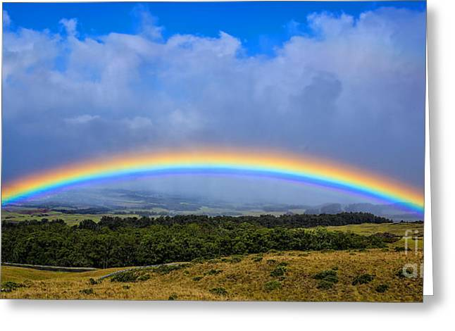 Haleakala Maui Greeting Cards - Hawaii the Rainbow State Greeting Card by Edward Fielding