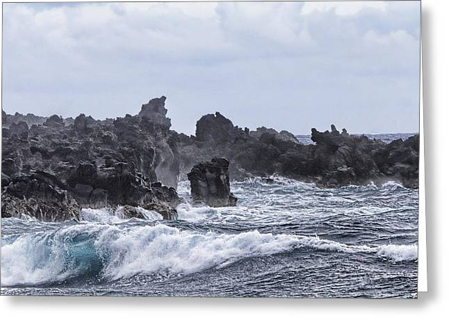 Hawaii Waves V1 Greeting Card by Douglas Barnard