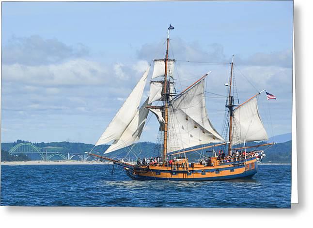 Sailing Ship Greeting Cards - Hawaiian Chieftain Greeting Card by Lilly Mae Photography