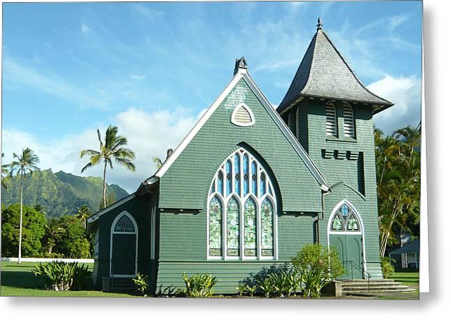 Hawaiian Church Greeting Card by Dee  Savage