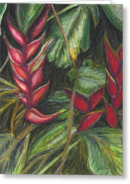 ; Maui Pastels Greeting Cards - Hawaiian Flower Greeting Card by E Carrington