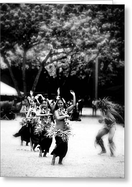 Hula Greeting Cards - Hawaiian Hula Greeting Card by Douglas Peebles