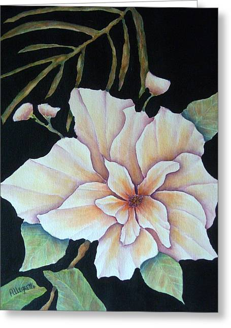 Pam Franz Greeting Cards - Hawaiian Pua Greeting Card by Pamela Allegretto