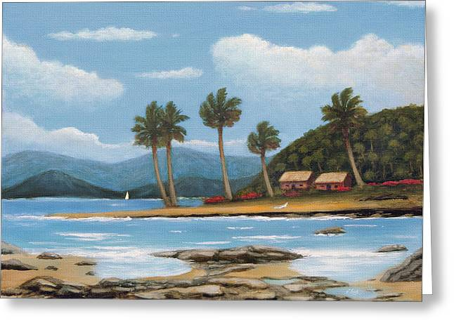 Breezy Greeting Cards - Hawaiian Shores Greeting Card by Gordon Beck