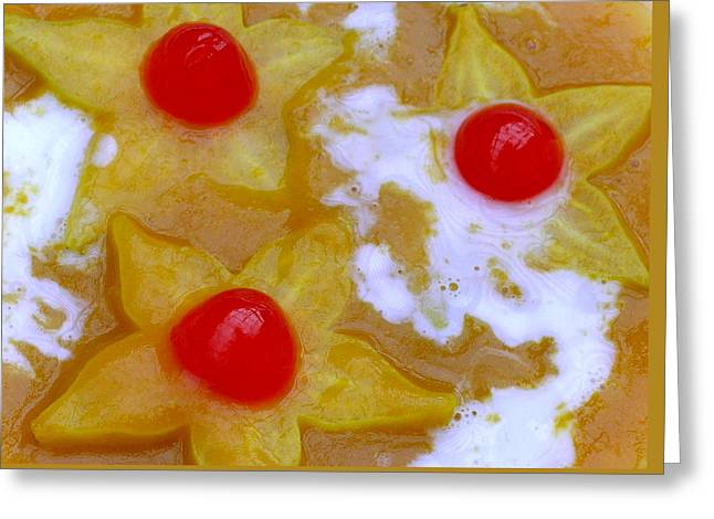 Hawaiian Star Fruit In Mango Orange Sauce Greeting Card by James Temple