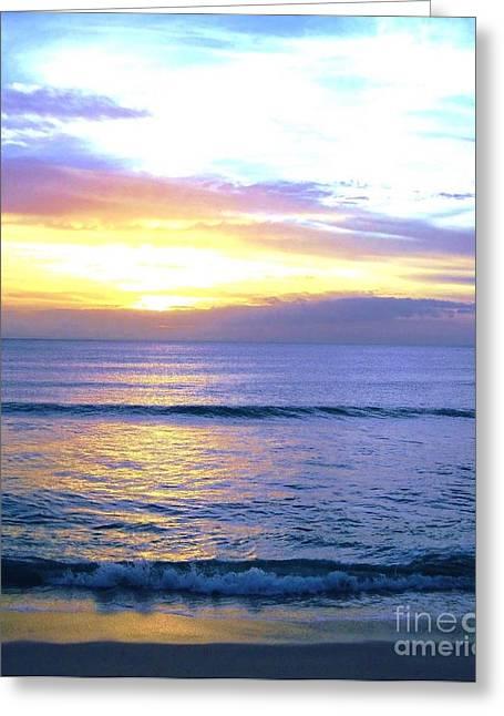 Sunset Posters Greeting Cards - Hawaiian Sunset Greeting Card by Marsha Heiken