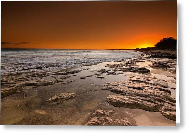 Koolina Greeting Cards - Hawaiian Sunset Greeting Card by Tin Lung Chao