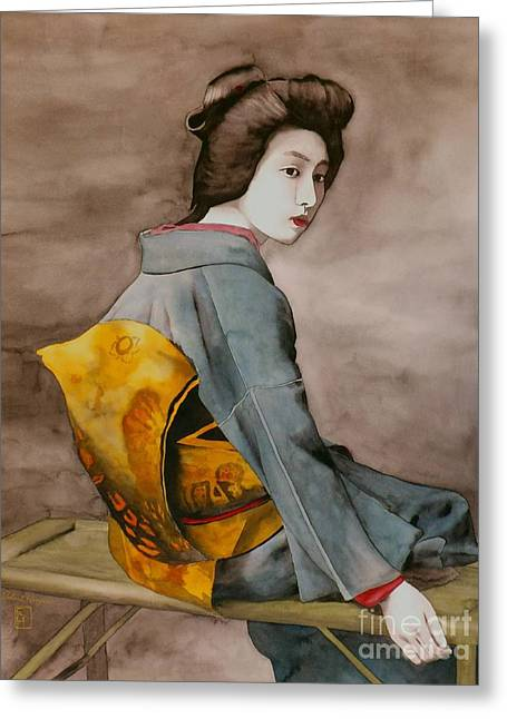 Geisha Greeting Cards - Hawaryu Greeting Card by Robert Hooper