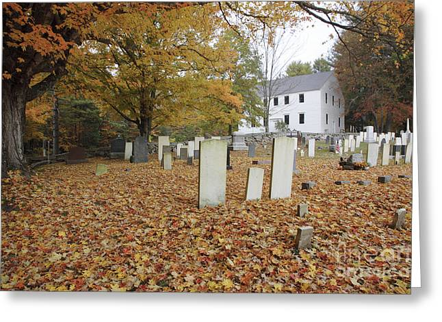 Meetinghouse Photographs Greeting Cards - Hawke Meetinghouse - Danville New Hampshire Greeting Card by Erin Paul Donovan