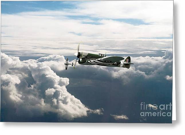 Typhoon Greeting Cards - Hawker Typhoons Greeting Card by J Biggadike