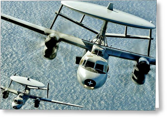 Naval Aviation Greeting Cards - Hawkeyes Greeting Card by Benjamin Yeager