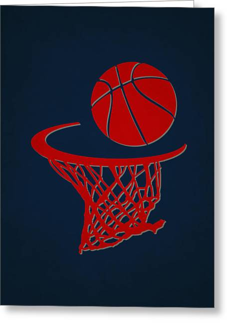 Basket Ball Greeting Cards - Hawks Team Hoop2 Greeting Card by Joe Hamilton