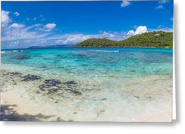 Hawksnest Beach, St. John, Us Virgin Greeting Card by Panoramic Images