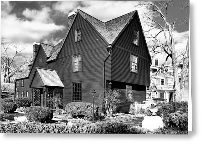 American Colonial Architecture Greeting Cards - Hawthornes Legendary House of Seven Gables Greeting Card by Mark Tisdale